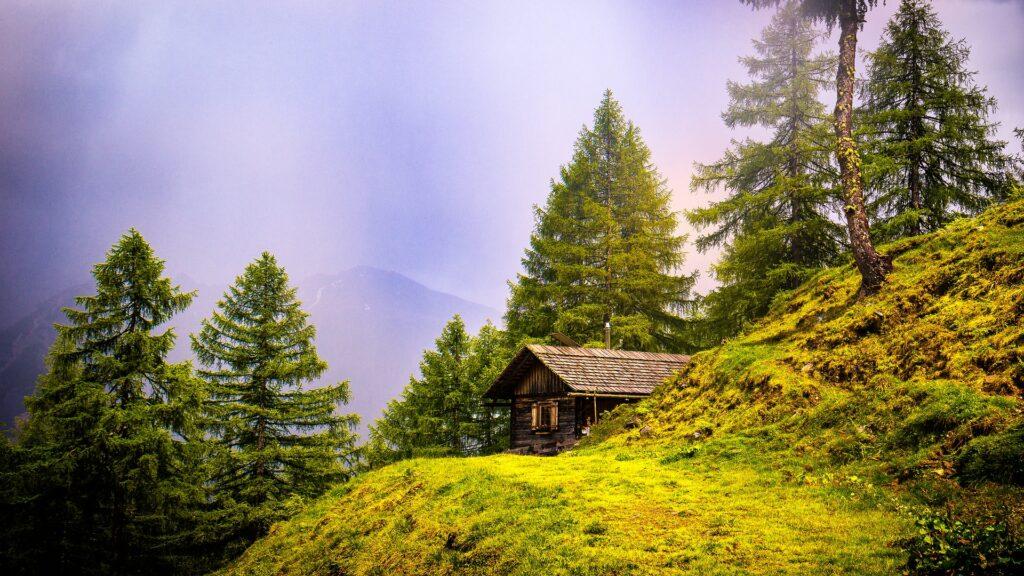 Chalet en montagne des Alpes