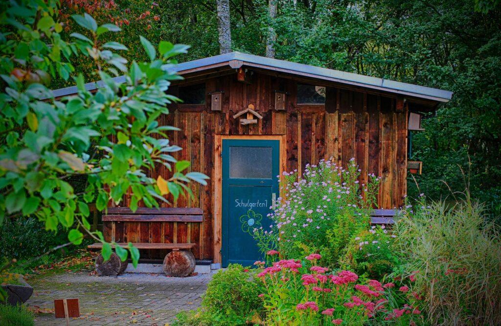 Aménagement d'abri de jardin